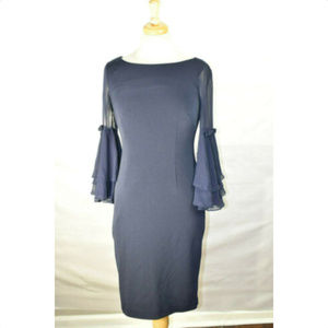 ELIZA J Womens Double Bell Sleeve Dress, Size 4